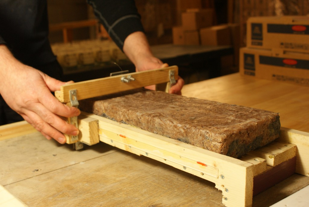 Cutting Natural Soap
