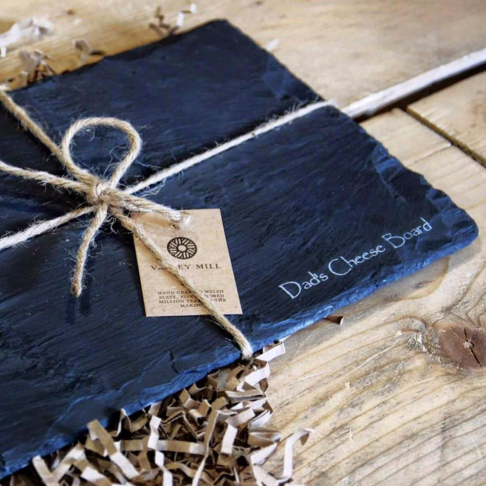 Father's day Welsh slate cheese board