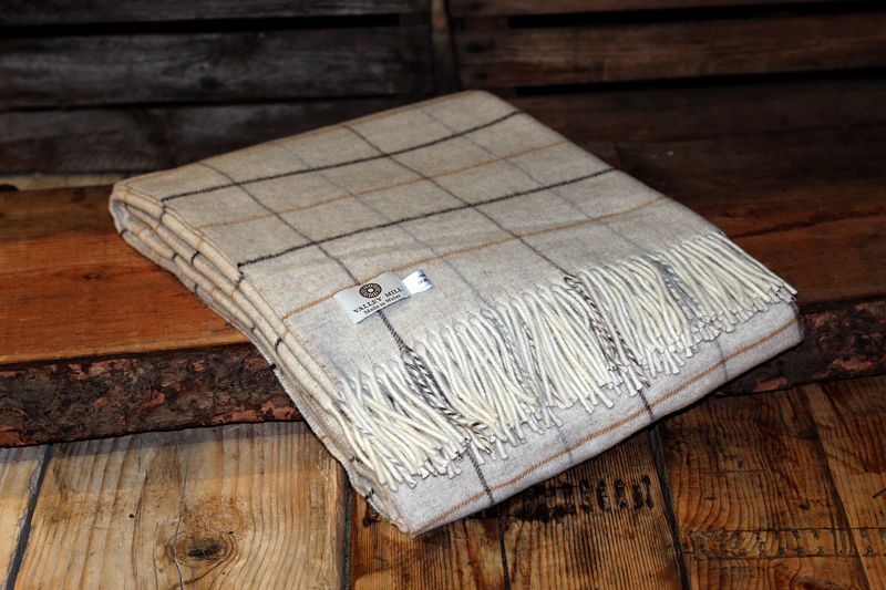Valley Mill Merino Wool Throw in Natural