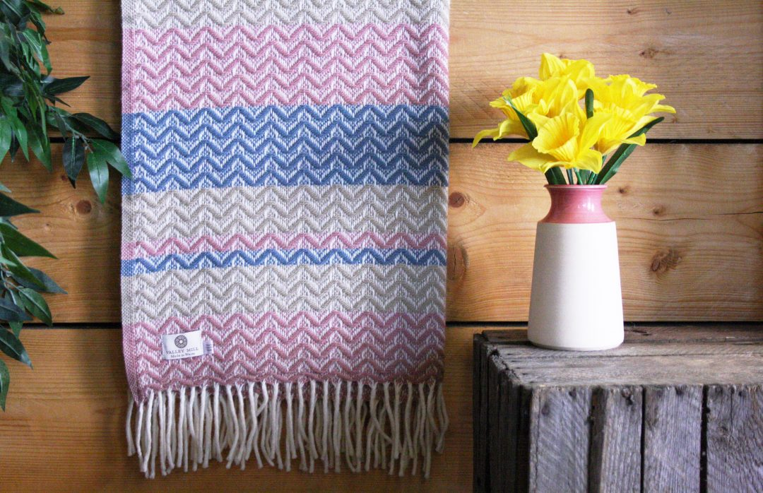 Mother's Day Valley Mill throw and Glosters vase
