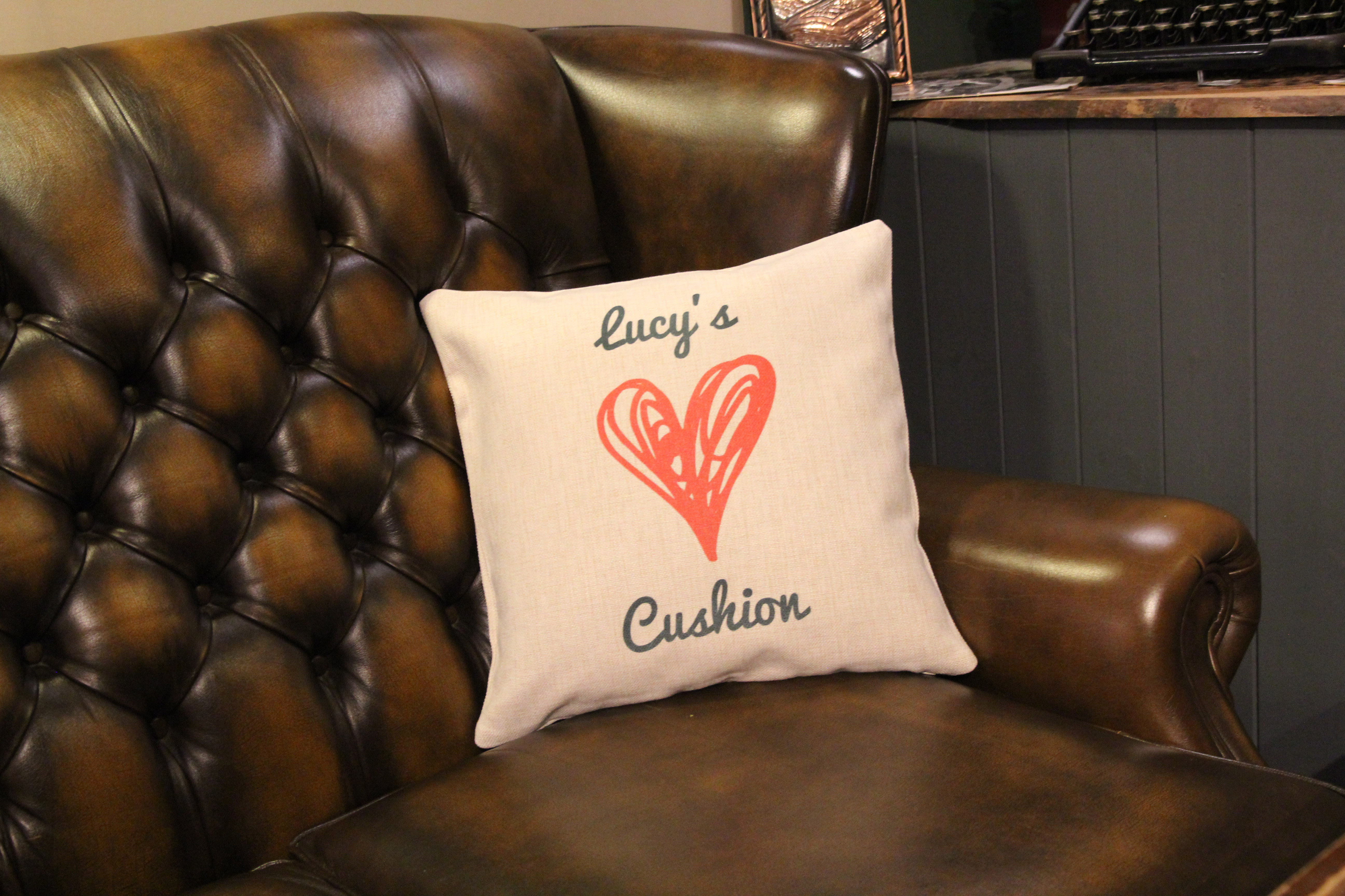 Personalised Linen-Effect Cushion