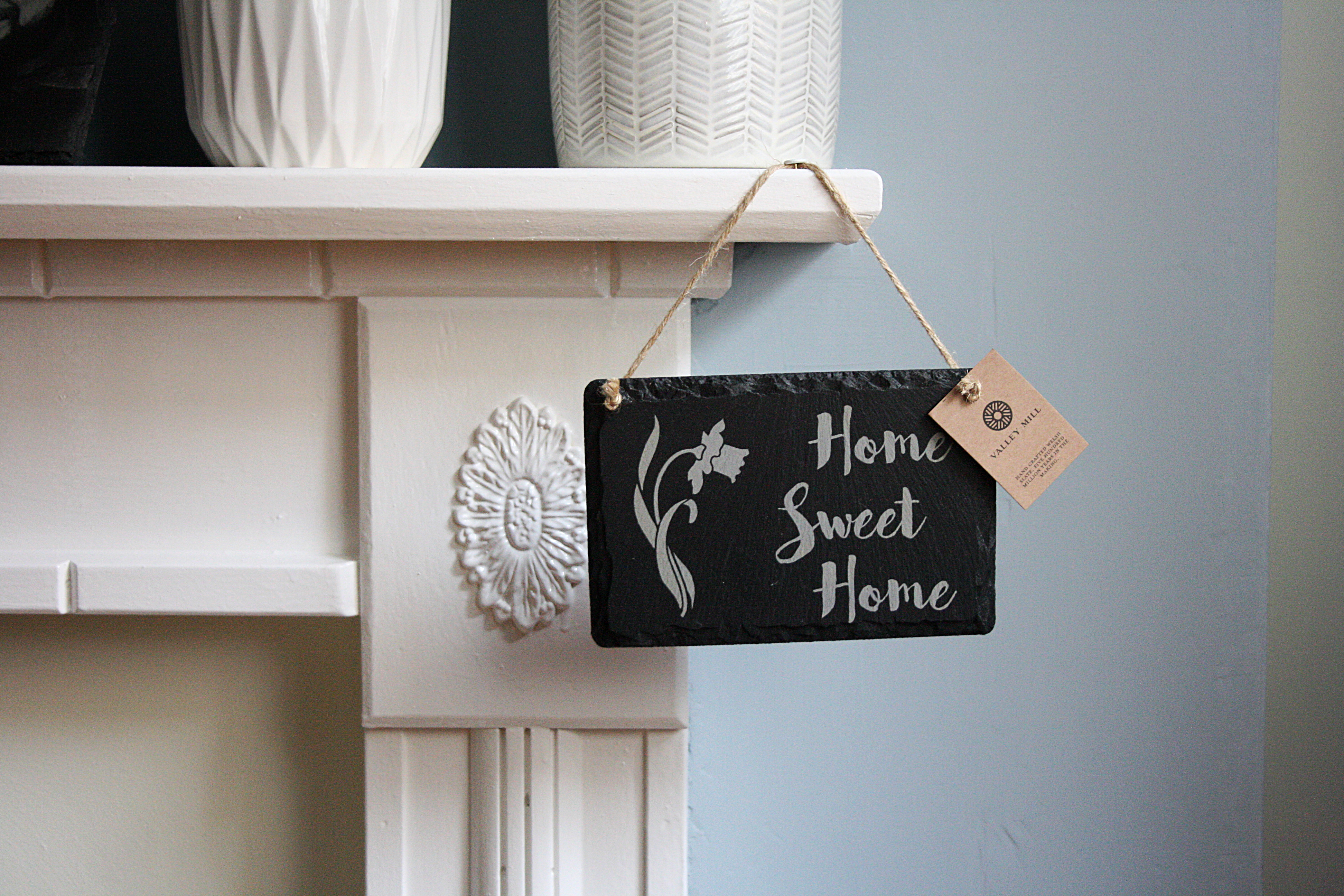 Welsh slate Home Sweet Home Hanging Sign