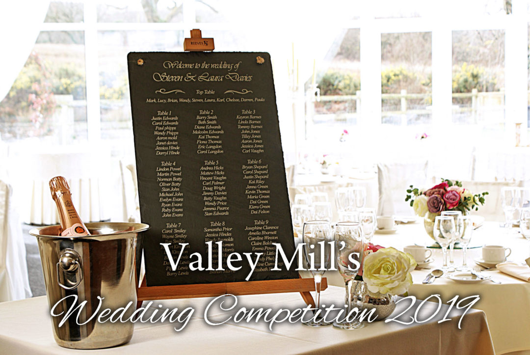Valley Mill Welsh Slate Wedding Table Plan