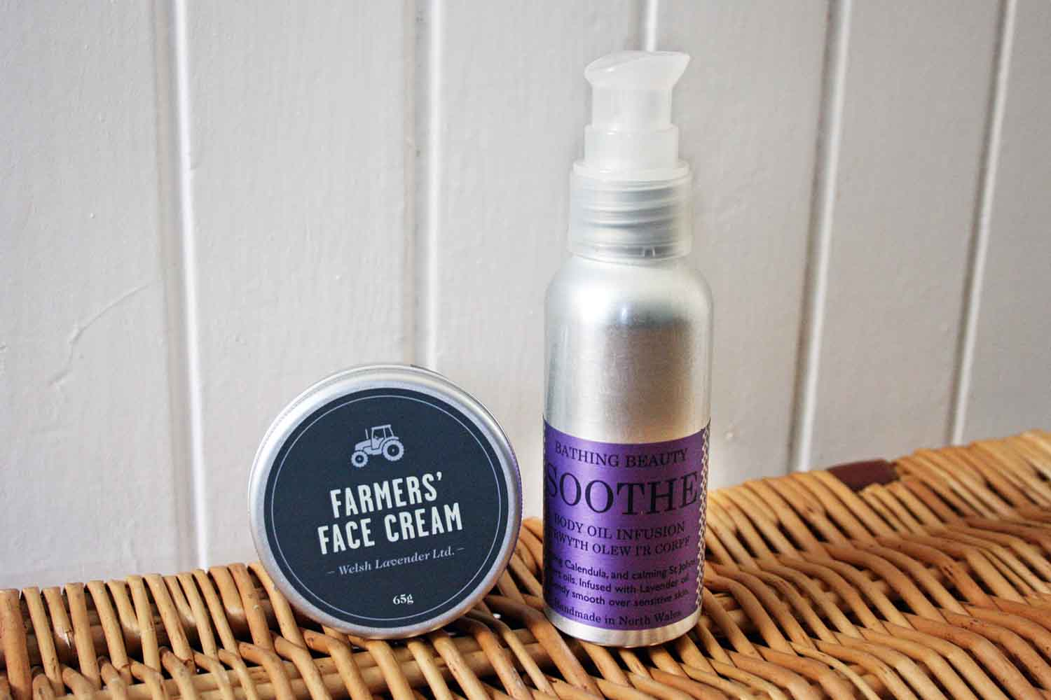 Welsh Lavender Farmers' Face Cream & Bathing Beauty's Soothe Natural Body Oil