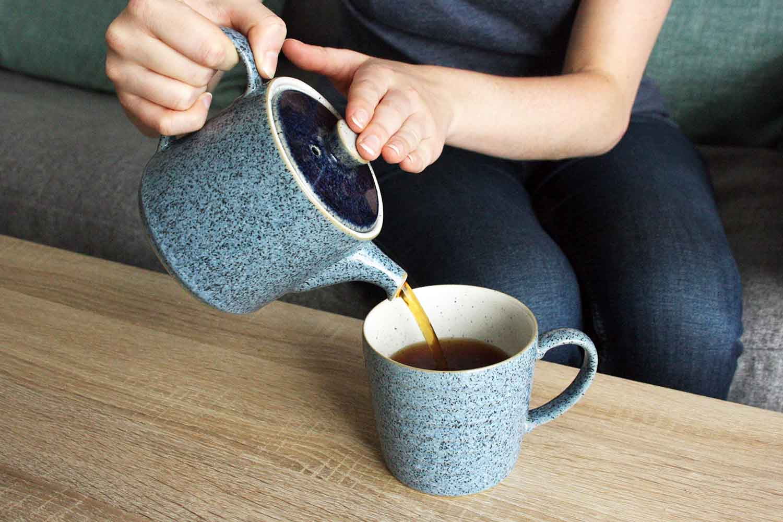 Denby Studio Blue Teapot and Mug