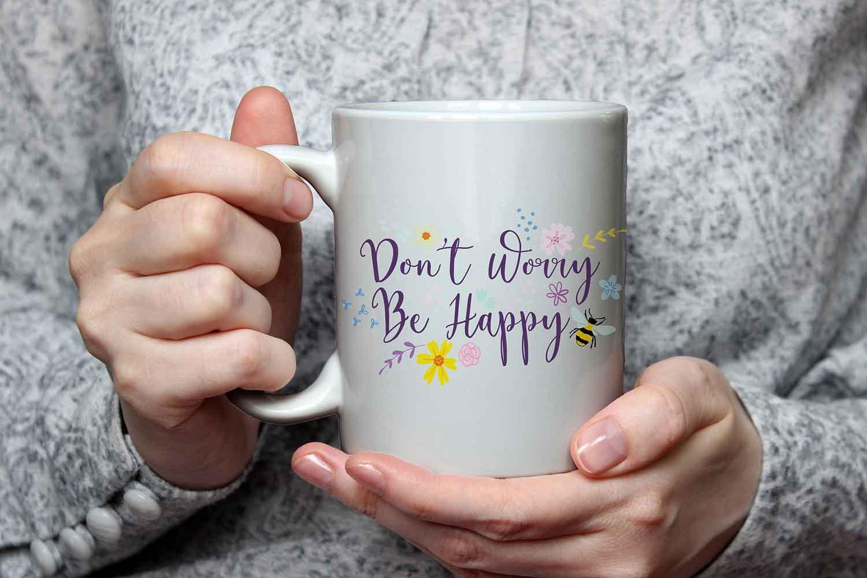 Valley Mill Don't Worry Be Happy Ceramic Mug