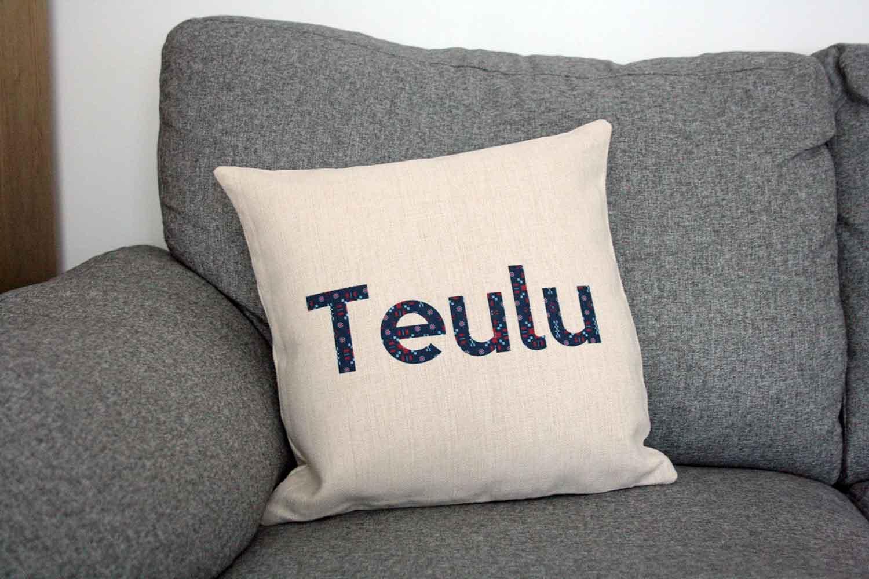 Linen Effect Teulu Family Cushion