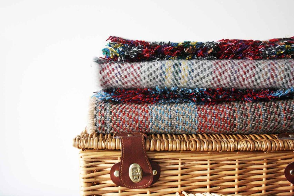 Recycled wool throws for cosy Winter home decor