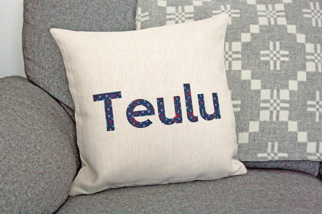 Family Teulu Cushion & Cosy Melin Tregwynt Blanket