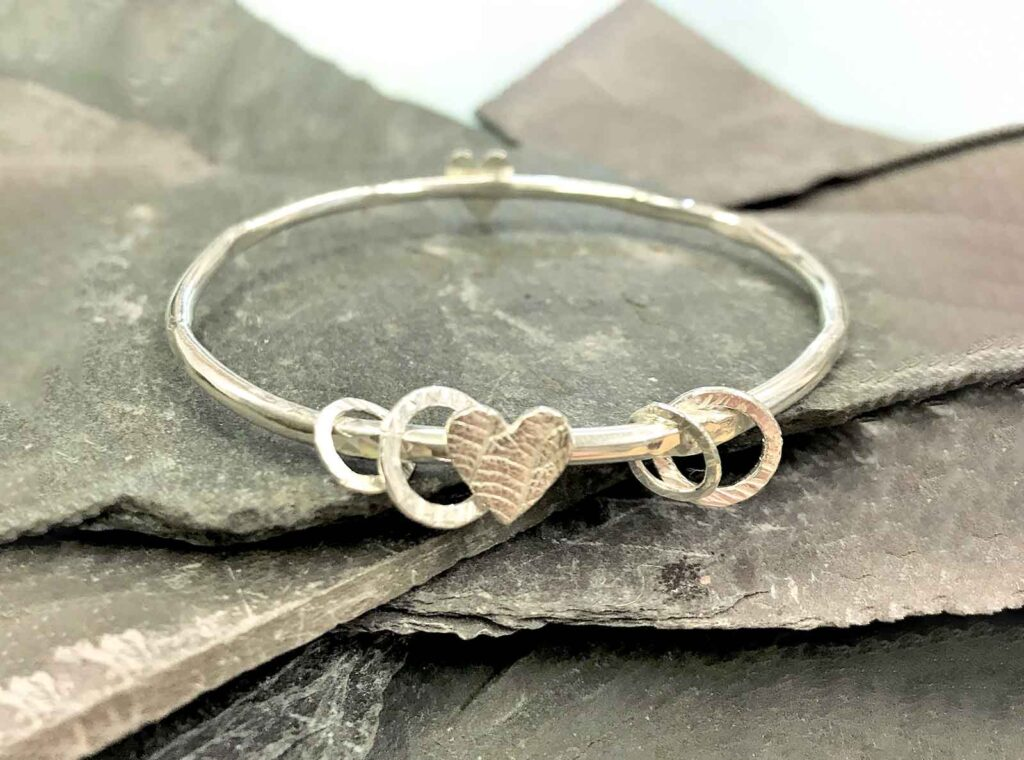 Creative Impressions Bramble Sterling Silver Bangle Mother's Day Gift Idea