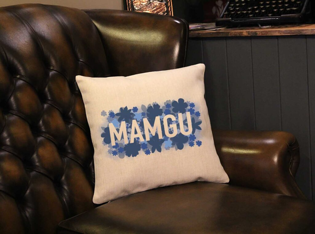 Floral Mamgu Square Mother's Day Cushion