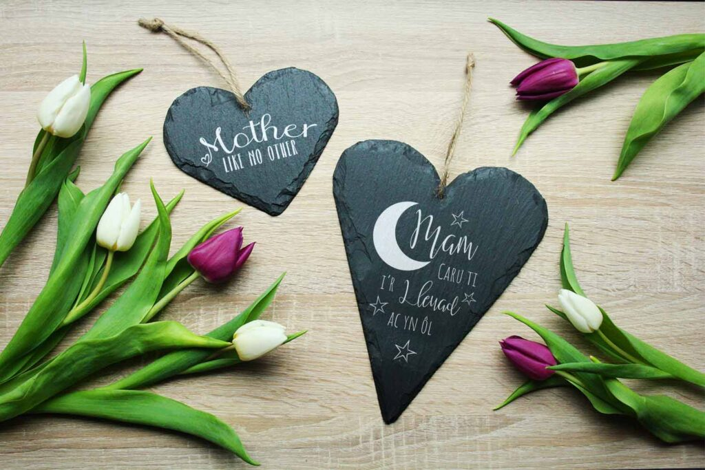 Mother's Day Welsh Slate Heart Gift Ideas For Mum