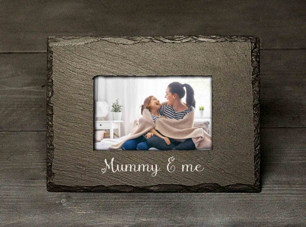 Welsh Slate Mummy & Me Photo Frame Mother's Day Gift