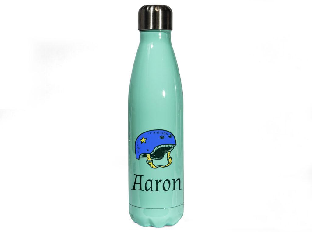 Green Personalised Metal Water Bottle
