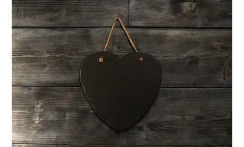 Welsh Slate Memo Board - Heart