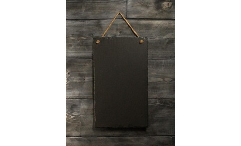 Welsh Slate Memo Board - Large Portrait