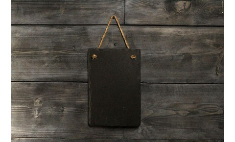 Welsh Slate Memo Board - Small Portrait