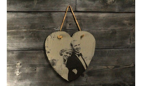 Photograph Engraving Heart Memo Board