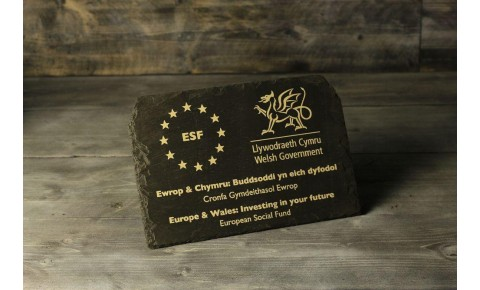Welsh Slate Plaque - Large, Landscape