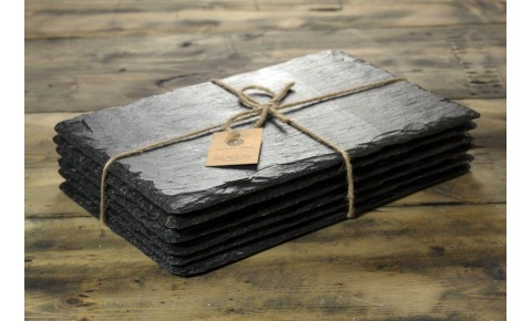 6 x Rectangular Welsh Slate Placemats