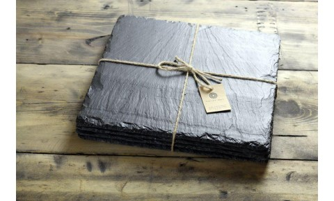 6 x Square Welsh Slate Placemats