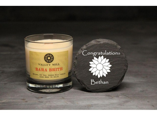 Personalised Bara Brith Soy Candle