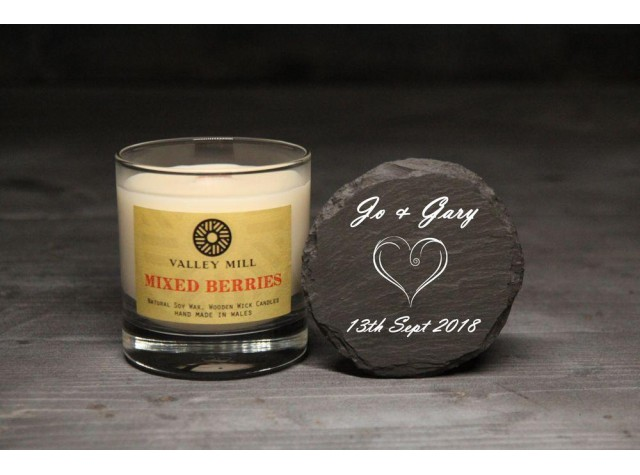 Personalised Mixed Berries Soy Candle
