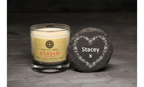 Personalised Cariad Citronella Soy Candle