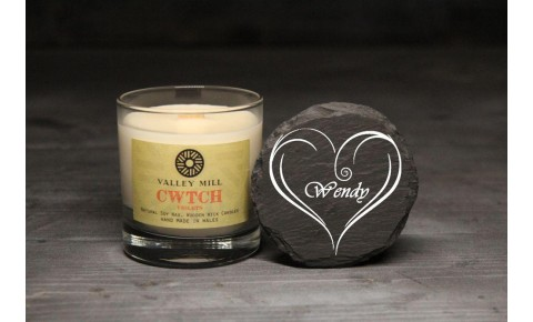 Personalised Cwtch Violets Soy Candle