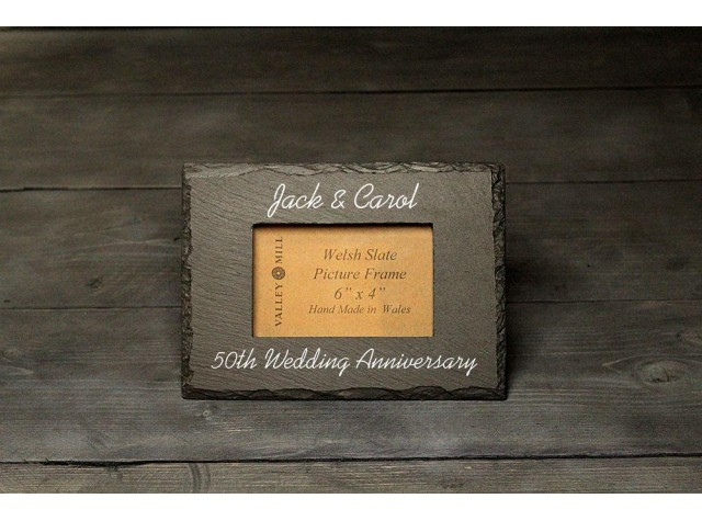 Personalised Welsh Slate photo frame