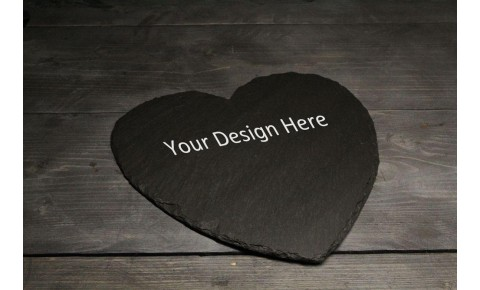Personalised Welsh slate Heart shaped cheese board
