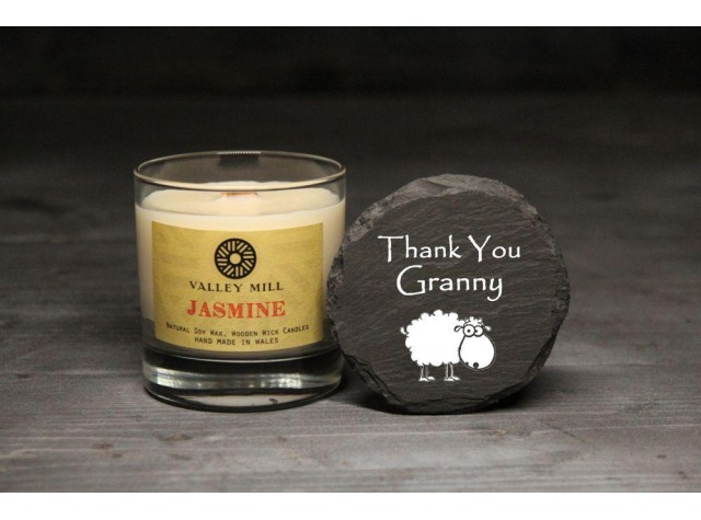 Personalised Jasmine Soy Candle