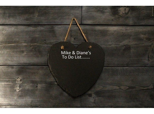 Personalised Heart Shaped Memo board
