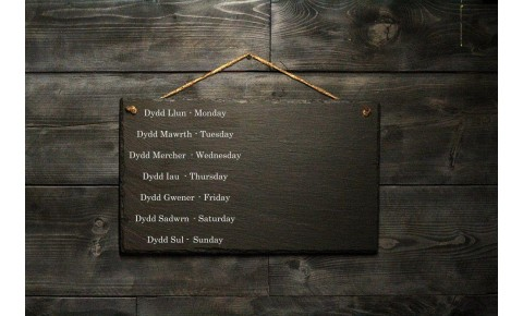 Personalised Welsh Slate Memo board - Large Landscape