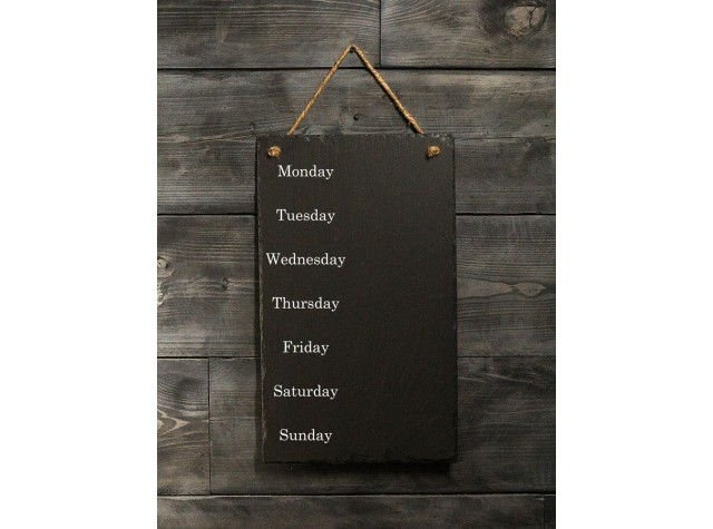 Personalised Welsh Slate Memo board - Large Portrait