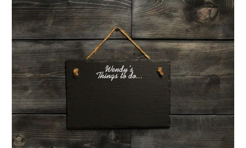 Personalised Welsh Slate Memo board - small Landscape