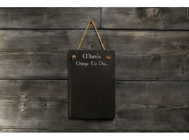 Personalised Welsh Slate Memo board - Small Portrait