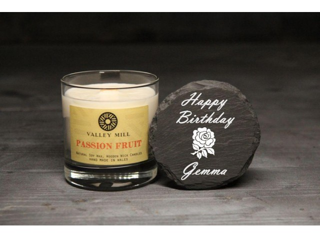Personalised Passion Fruit Soy Candle