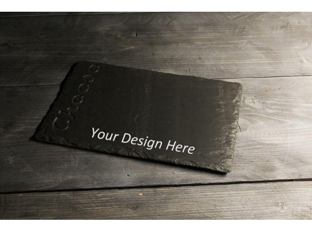 Personalised Welsh slate deep engraved cheese board- Cheese