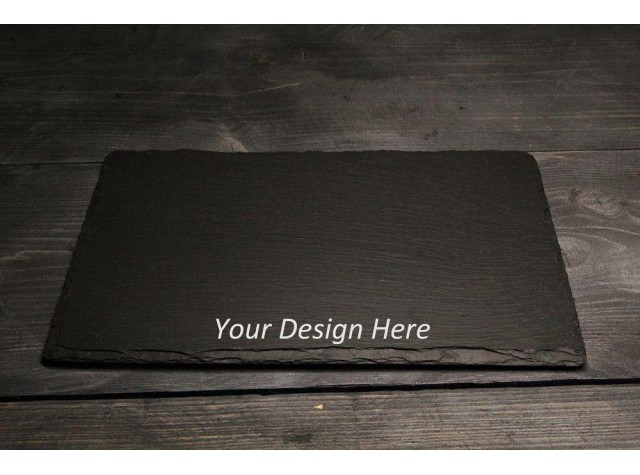Personalised Welsh slate placemat  cheese board