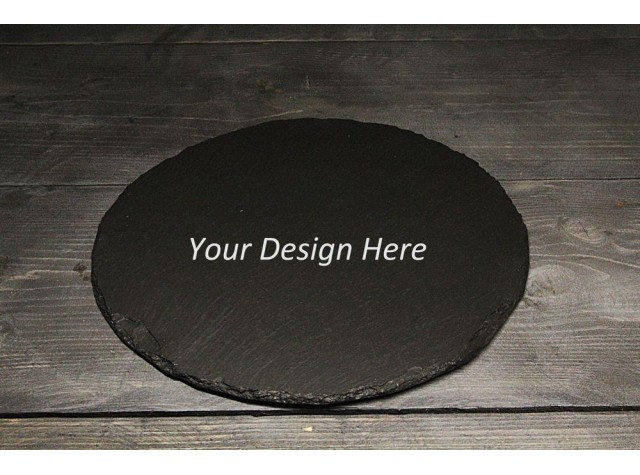 Personalised Welsh Slate round placemat  / cheese board