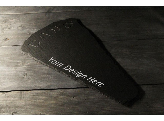 Personalised Welsh slate Wedge Cheeseboard - 'Caws'