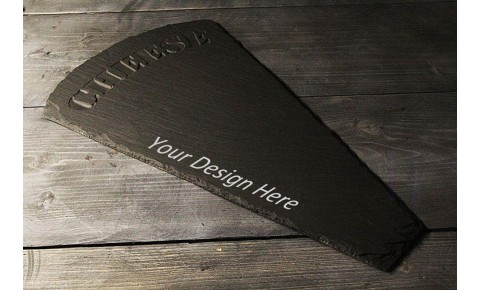 Personalised Welsh slate wedge cheese board-'Cheese'