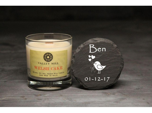 Personalised Welsh Cake Soy Candle