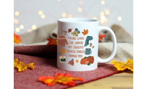 Autumn Things Ceramic Mug | Valley Mill