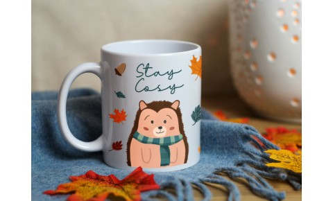 Stay Cosy Hedgehog Ceramic Mug | Valley Mill