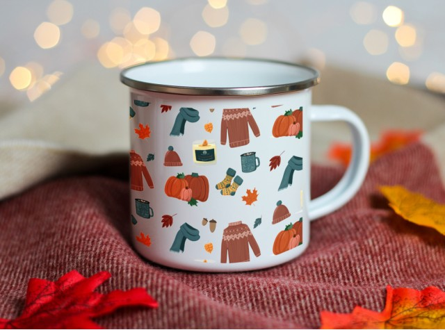Autumn Enamel Mug | Valley Mill