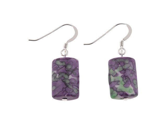 Purple Rainflower Earrings