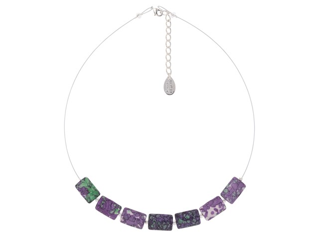 Purple Rainflower Necklace