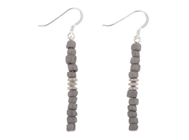 Aztec Grey Earrings